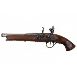 Pistola de chispa, Francia siglo XVIII. (zurda). plata vieja