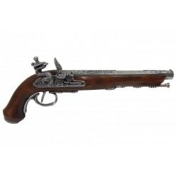 Pistola de duelo francês de 1810. prata
