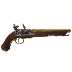 Flintlock dueling pistol, Versailles (France) 1810. gold