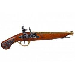 Pistola de chispa, Inglaterra S.XVIII. Oro viejo