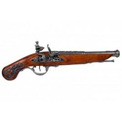 Pistola de chispa, Inglaterra S.XVIII. Plata vieja