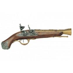 Pistola de chispa inglesa S.XVIII. Oro viejo