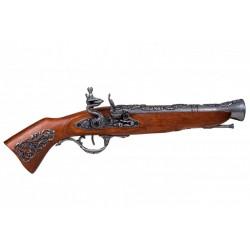 Pistola blunderbuss século XVIII austríaco. prata