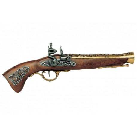 Pistola blunderbuss século XVIII austríaco. ouro