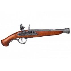 Pistola de chispa, Alemania S. XVIII. Plata vieja
