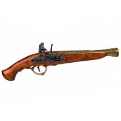Pistola de chispa, Alemania S. XVIII. Oro viejo