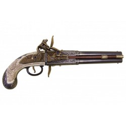 Double-barrelled turn-over pistol