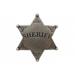 Placa de Sheriff de 6 pontas
