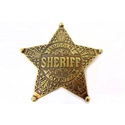 Placa de Sheriff de 5 puntas