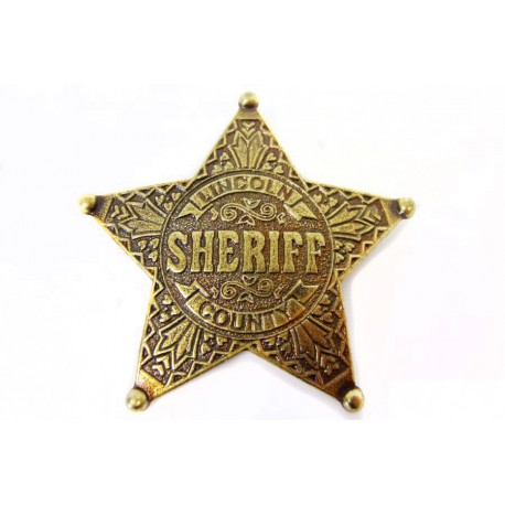 Five point ball tipped star badge