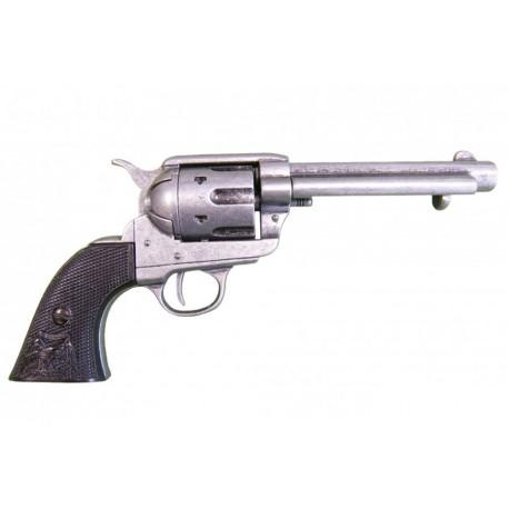"""Revólver Colt Peacemaker calibre 45 5½"""". punho ébano"""