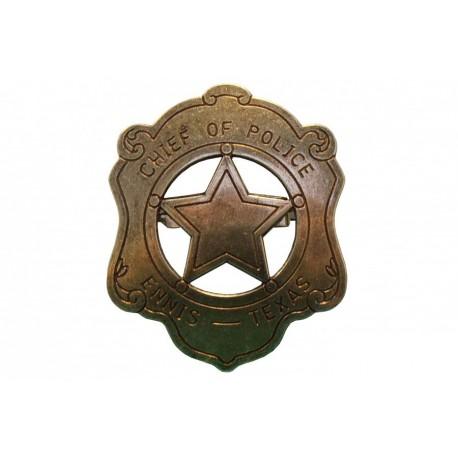 Placa de chefe do policia