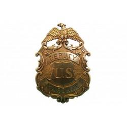 Placa de marshal com águia dourada