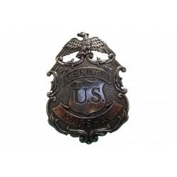 Placa de marshal com águia prata