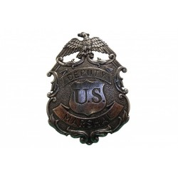 Placa de marshal con águila plata