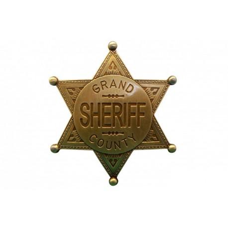 badge. Grand County Shefiff gold