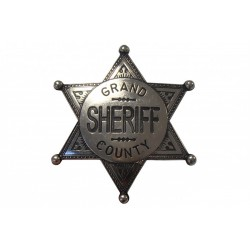 badge Grand County Shefiff silver.