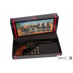 """Revólver Cal.45 Peacemaker 4,75"""", con 6 balas, USA 1873"""