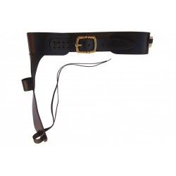 Leather cartridge belt for Mare's Leg rifle including 15 bullets