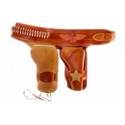 Canana de piel para dos revólveres