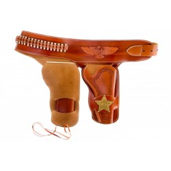 Canana de piel para dos revolvers