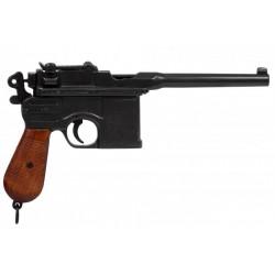 Pistola Mauser 1898. Punho de madeira