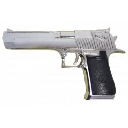 Réplica Pistola semiautomática Desert Eagle 50 , USA-Israel 1982. Modelo plateado