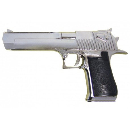 Semiautomatic pistol, caliber .357, .44, .50. Chrome