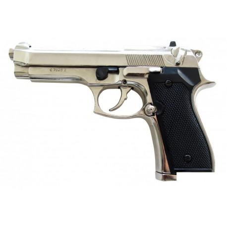 Beretta pistol 92 F.9 mm, parabellum chrome