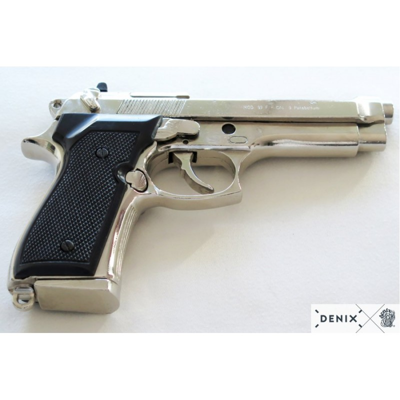 Beretta pistol 92 F.9 mm, parabellum chrome - Armas de Colección