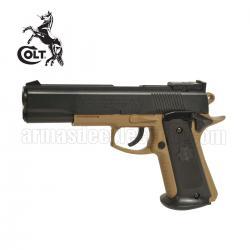 COLT MK IV Series 70 Corps TAN Pistola 6MM Muelle