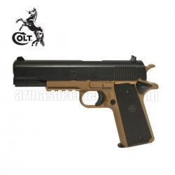 COLT 1911 Corps TAN Pistola 6MM Muelle