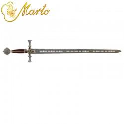 Damascened Templar Knight Sword by Marto M597