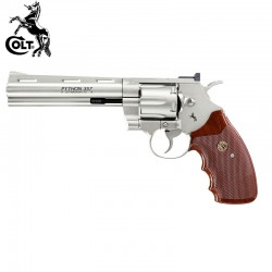 "Colt Python 357-6"" Nickel Revólver (Walking Dead) Full Metal 4.5mm CO2"
