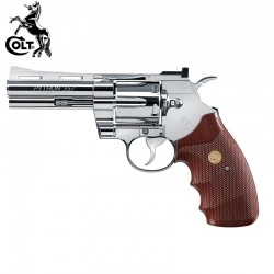 "Colt Python Magnún 357-4"" Nickel Revólver Full Metal 4.5mm CO2"