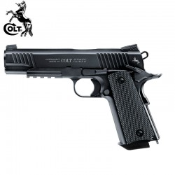 Colt M45 CQBP BLACK Pistol Full Metal BlowBack 4.5mm CO2