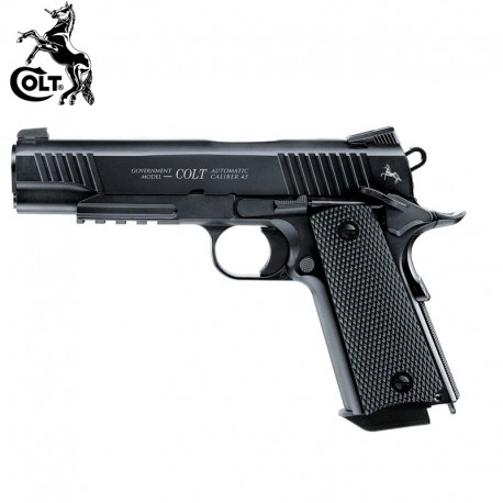 Colt M45 CQBP BLACK Pistola Full Metal BlowBack 4.5mm CO2