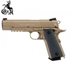 Colt M45 CQBP FDE TAN Pistola Full Metal Blow Back 4,5mm CO2