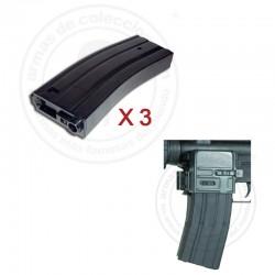 Pack 3 Cargadores M4 + Clip para cargador auxiliar M4