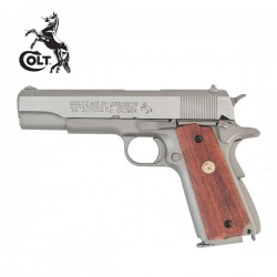 Colt 1911 Serie 70 Pistola 6mm Full Metal Blowback CO2 Niquel Marrón