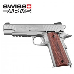 Swiss Arms SA P1911 Pistola 4.5MM Co2 Plata/Madera