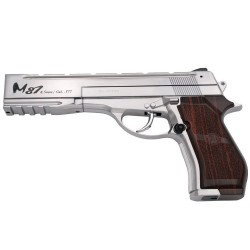 WG M87 Chrome - Full Metal - Gun 4.5 mm. Co2