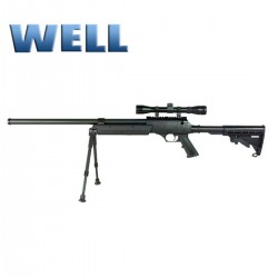 Sniper SR-2 Well con optica y bipode culata táctical