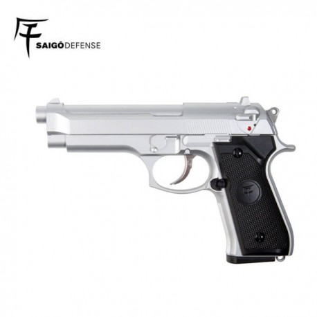 Saigo 92 Pistola 6mm Gas Silver