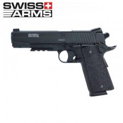 SWISS ARMS 1911 MATCH 4.5 mm CO2 CORREDIÇA METALICA