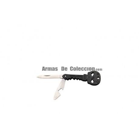 Navaja llavero Calavera Third 10260N de 4.6 cm acabado negro