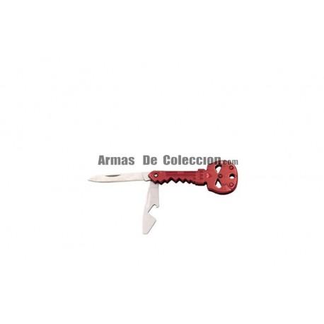 Navaja llavero Calavera Third 10260R de 4.6 cm acabado rojo