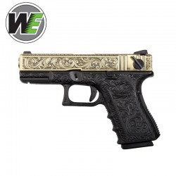 WE Ivory Engraved (Tipo Glock 23) Pistol Gas 6 MM