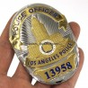 Placa US LAPD Los Angeles Police Officer NO. 13958 Metal
