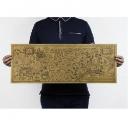 "Har P . Mapa ""The wizaring world of Harry Potter"" 72x26 cms"
